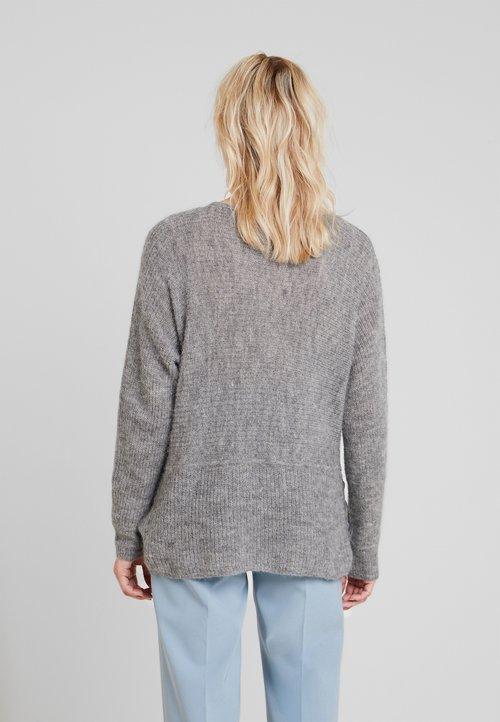 wylot Esprit Collection BOATY NECK - Sweter - medium grey Odzież Damska ZWOD-MT6