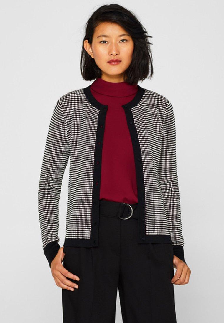 Esprit Collection - MIT POPCORN-STRUKTUR - Vest - garnet red