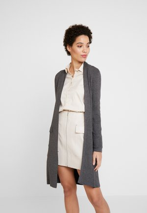LONG - Cardigan - gunmetal