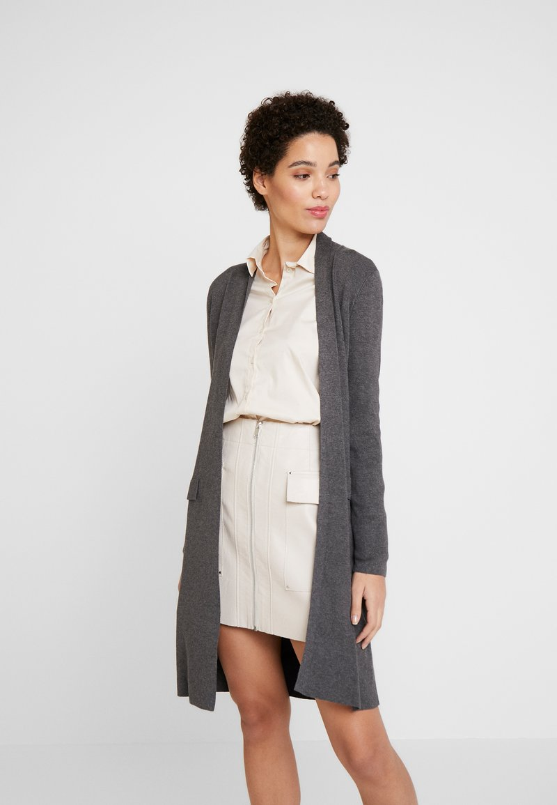Esprit Collection - LONG - Cardigan - gunmetal