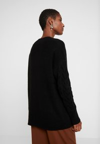 Esprit Collection - CABLE  - Sweter - black - 2