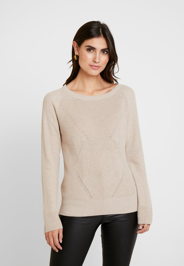 STRUCTURED  - Sweter - sand