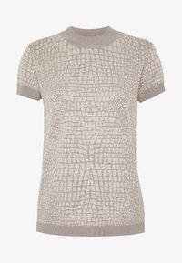 Esprit Collection - SNAKE - T-shirt z nadrukiem - nude - 4