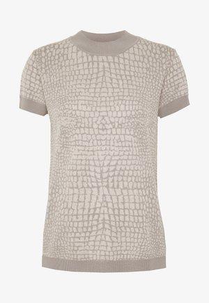 SNAKE - T-shirt z nadrukiem - nude