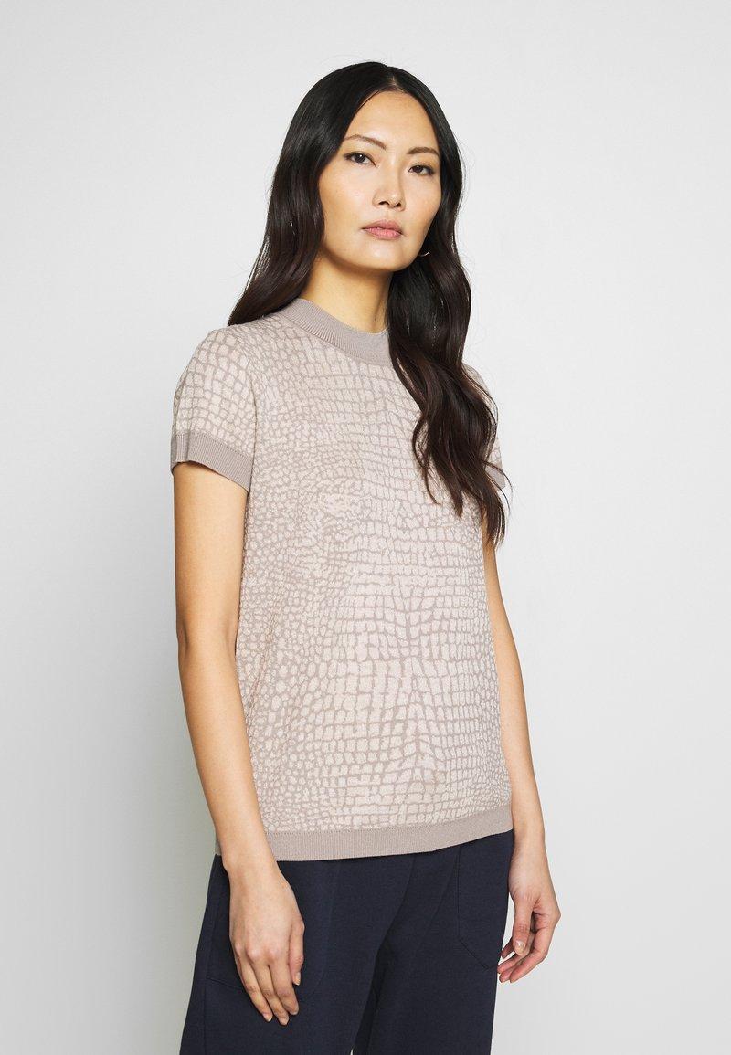 Esprit Collection - SNAKE - T-shirt z nadrukiem - nude