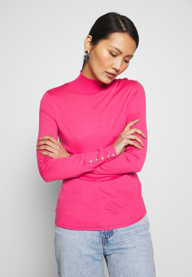 FITTED HIGH NEK - Jumper - pink
