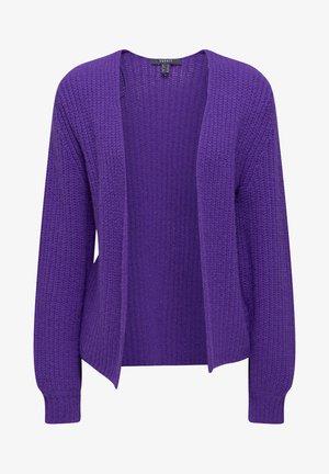 MIT BALLON-ÄRMELN - Strikjakke /Cardigans - purple