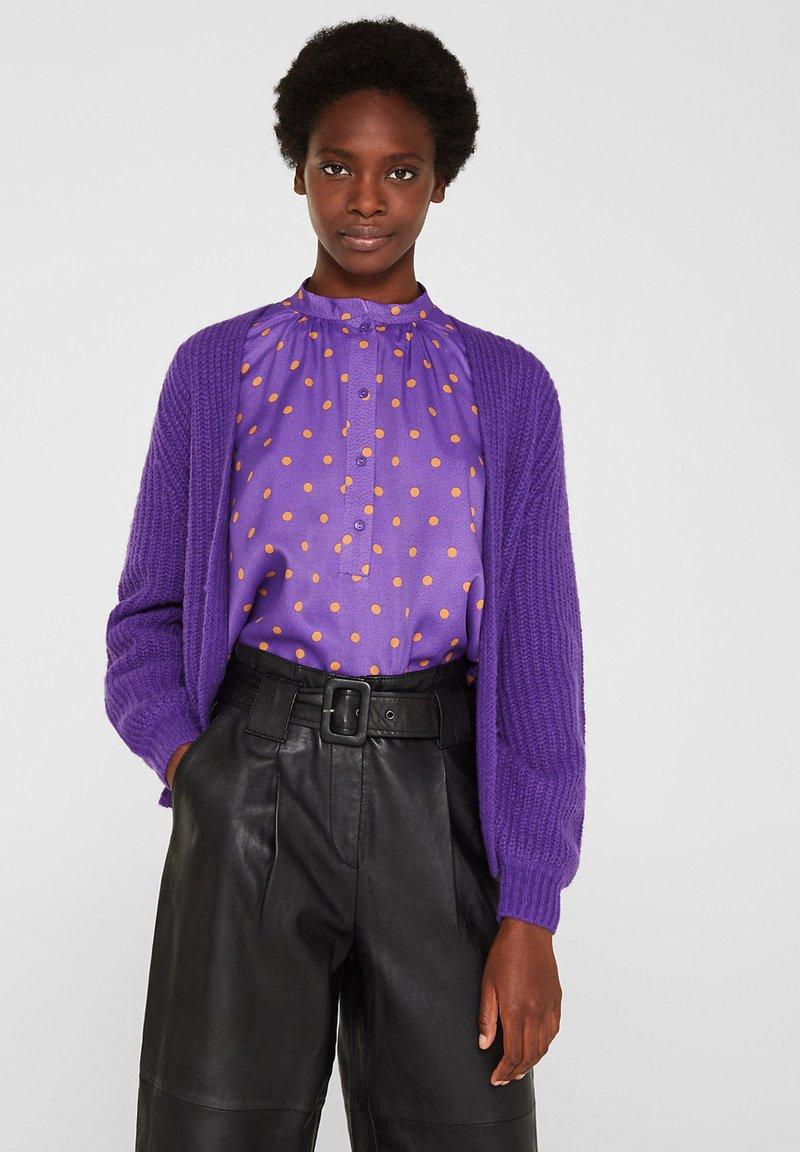 Esprit Collection - MIT BALLON-ÄRMELN - Gilet - purple
