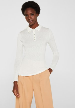 MIT KASCHMIR-TOUCH - Poloshirt - off white