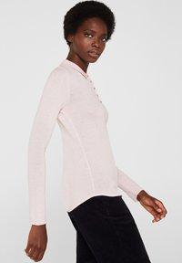 Esprit Collection - MIT KASCHMIR-TOUCH - Poloshirt - light pink - 3
