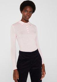 Esprit Collection - MIT KASCHMIR-TOUCH - Poloshirt - light pink - 0