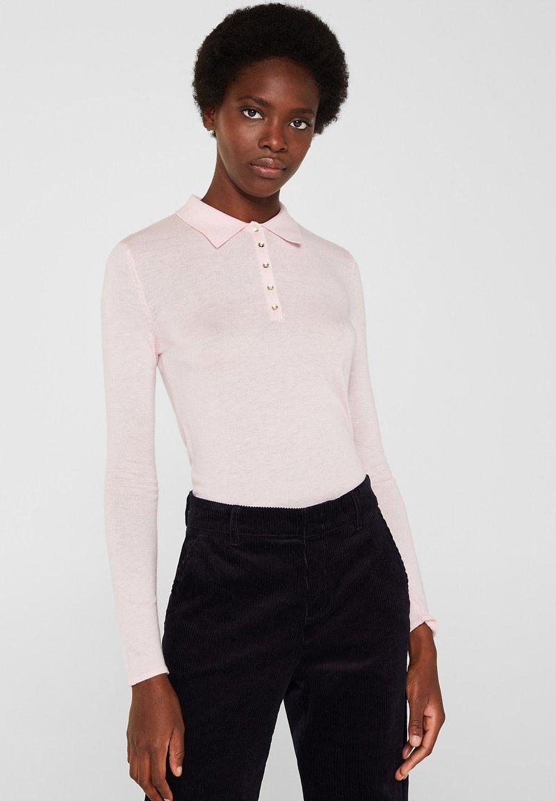 Esprit Collection - MIT KASCHMIR-TOUCH - Poloshirt - light pink