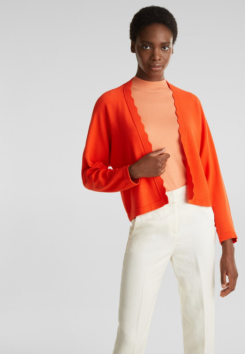Esprit Collection - BOLERO W LACE - Gilet - red orange