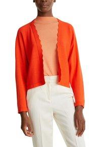 Esprit Collection - BOLERO W LACE - Gilet - red orange - 4