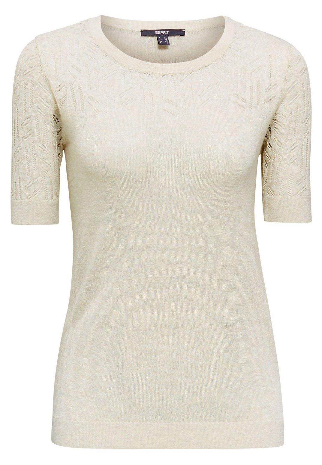 Esprit Collection Mit Ajourmuster - T-shirt Imprimé Ice