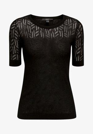 MIT AJOURMUSTER - T-shirt imprimé - black