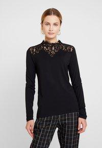 Esprit Collection - NECK  - T-shirt à manches longues - black - 0