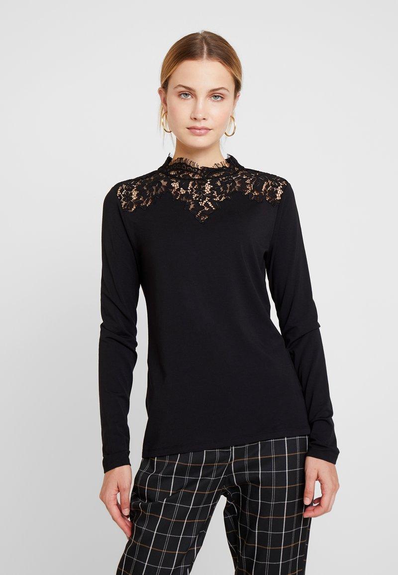 Esprit Collection - NECK  - T-shirt à manches longues - black