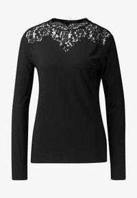 Esprit Collection - NECK  - T-shirt à manches longues - black - 4