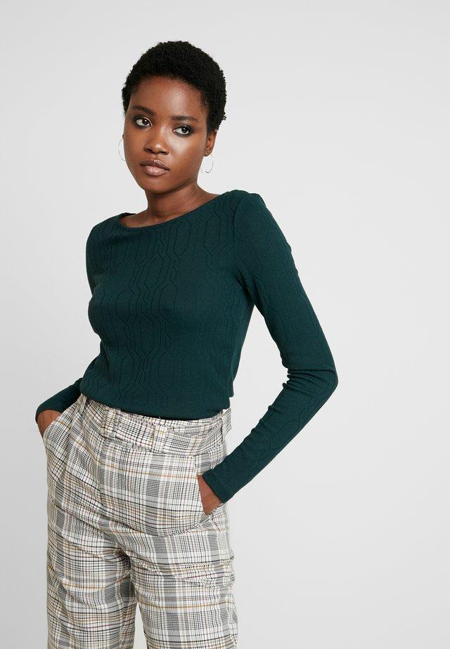 Sweter - dark teal green