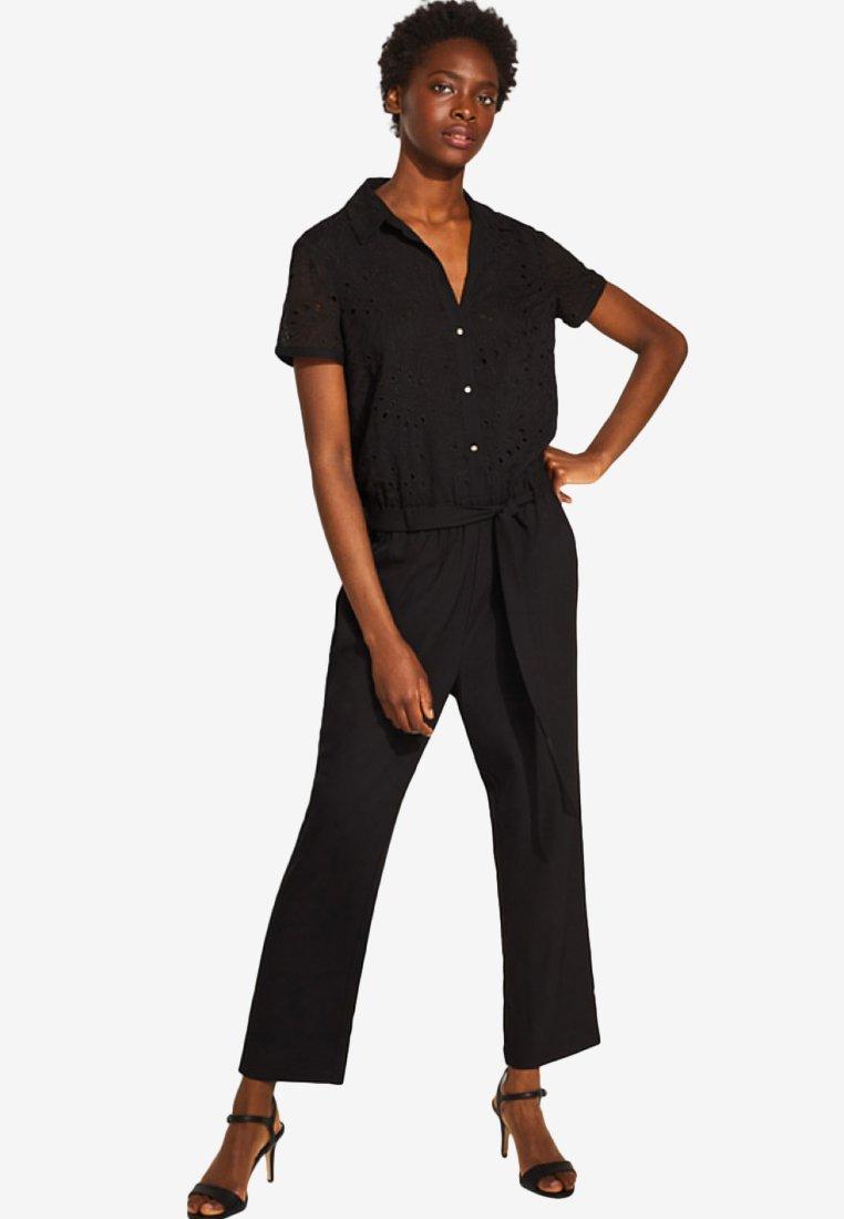 Esprit Collection - MIT BESTICKTEM OBERTEIL - Jumpsuit - black