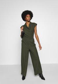 Esprit Collection - Tuta jumpsuit - khaki green - 1