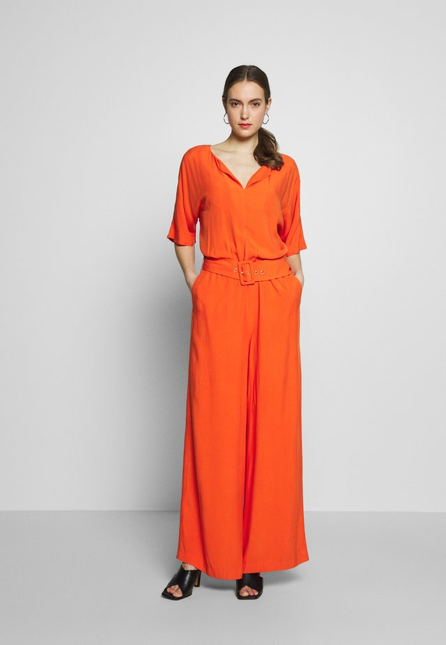 MLA-040EO1L302      JUMPSUIT - Mono - red orange