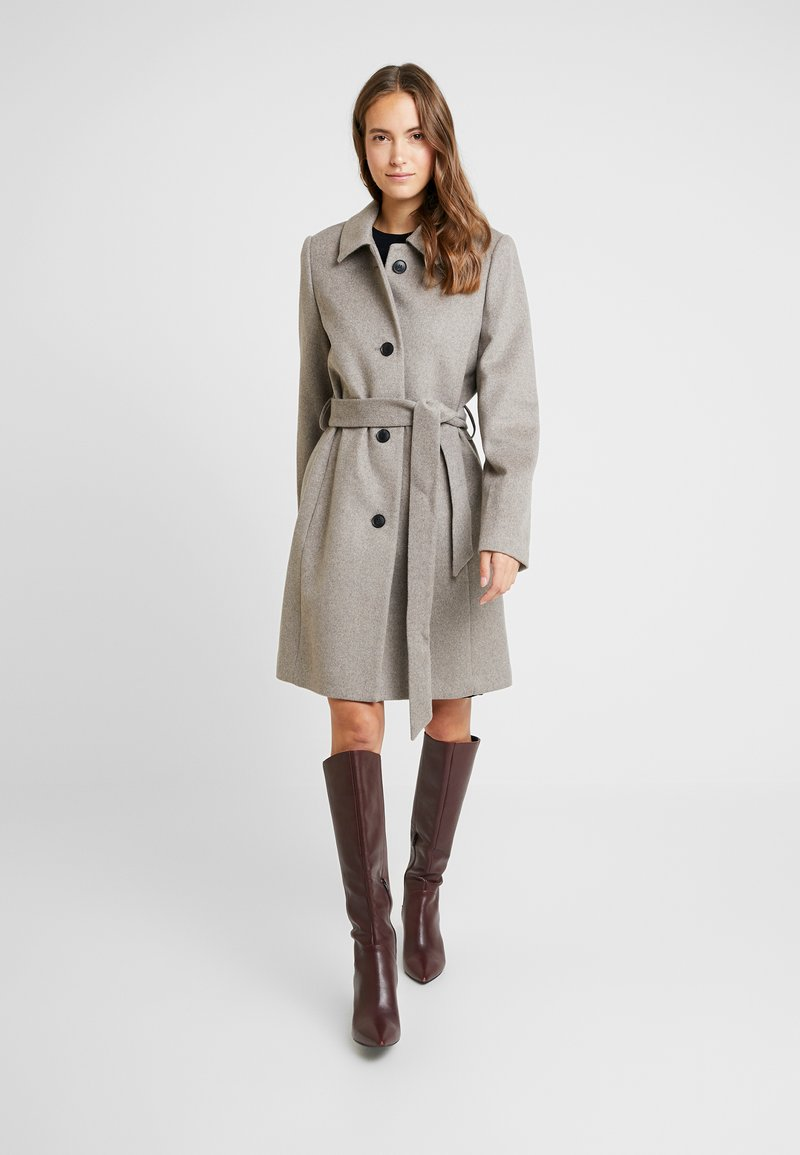 Esprit Collection - CHECK COAT - Wollmantel/klassischer Mantel - light taupe