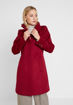 FEMININE COAT - Mantel - dark red