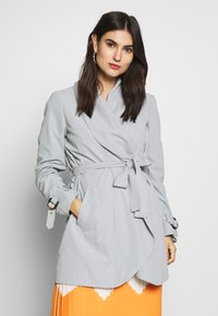 Esprit Collection - FEMININE COAT - Halflange jas - grey blue - 0