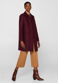 Esprit Collection - MIT WOLLE - Manteau classique - bordeaux red - 1