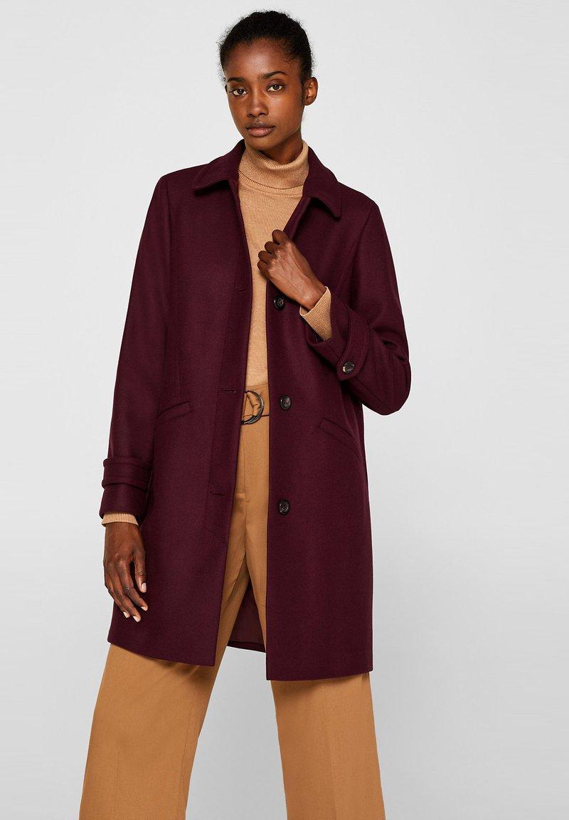 Esprit Collection - MIT WOLLE - Manteau classique - bordeaux red