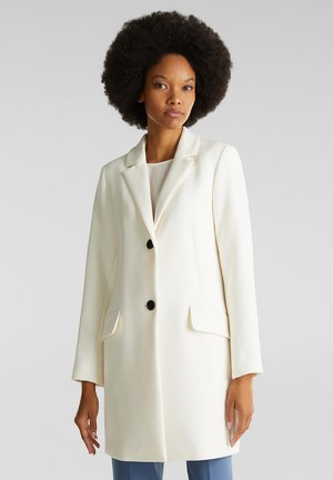 MIT FEINER STRUKTUR - Short coat - off white