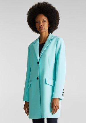 MIT FEINER STRUKTUR - Short coat - light turquoise