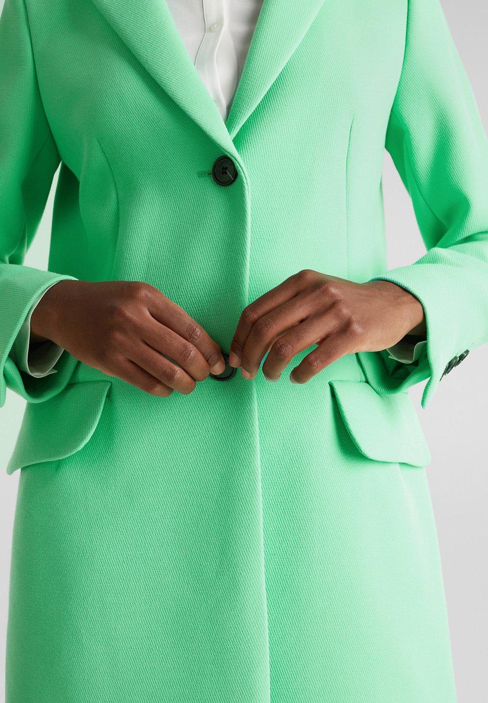 Esprit Collection Mit Feiner Struktur - Short Coat Light Green