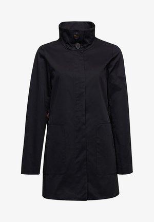 MIT HOHEM STEHKRAGEN - Halflange jas - black