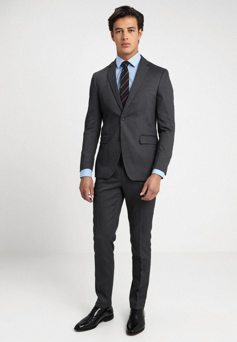 Esprit Collection - BIRD EYE SLIM FIT - Suit - grey