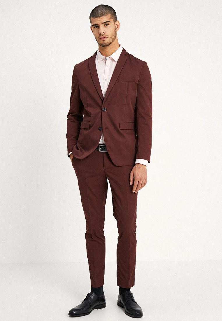 Esprit Collection - SUIT - Anzug - bordeaux red