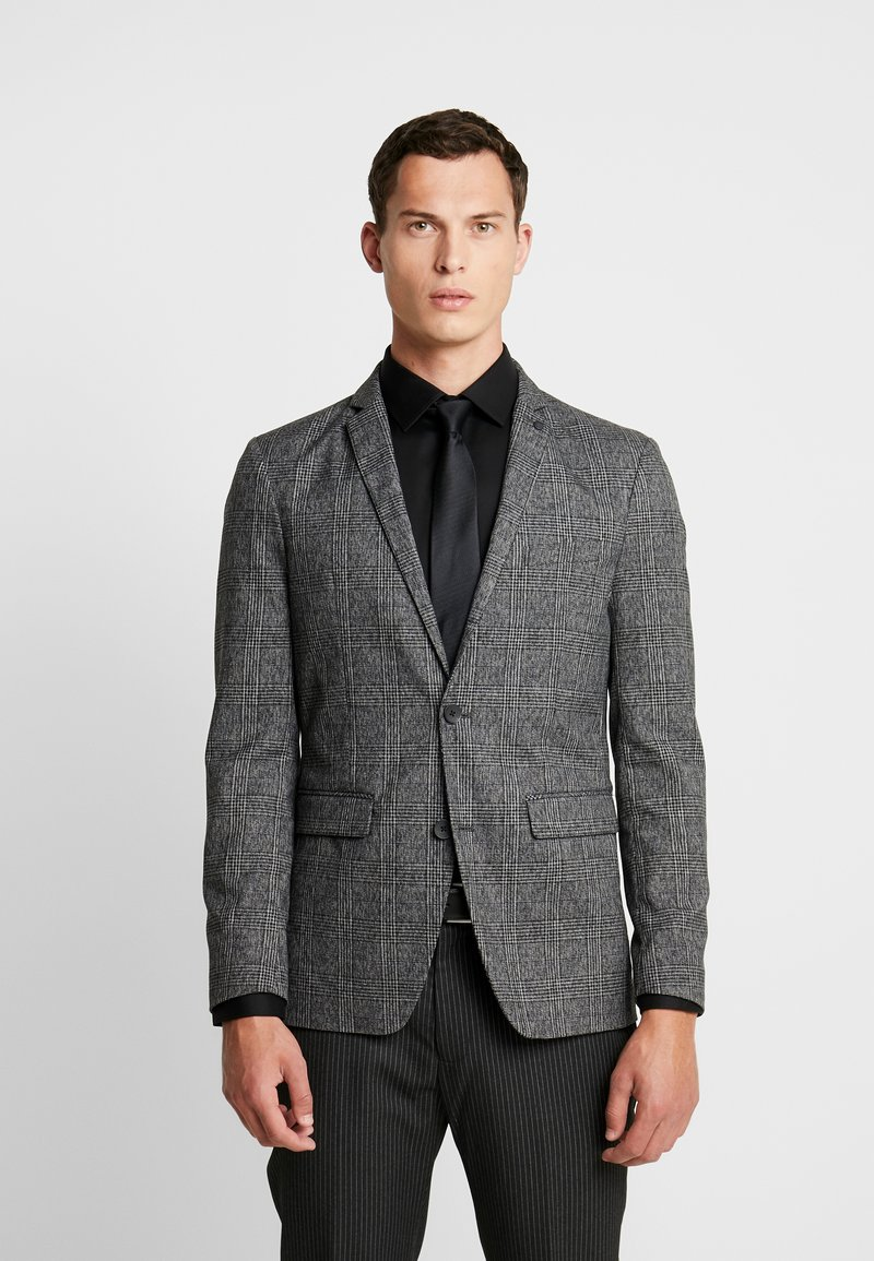 Esprit Collection - CHECK BLAZER - Sakko - dark grey