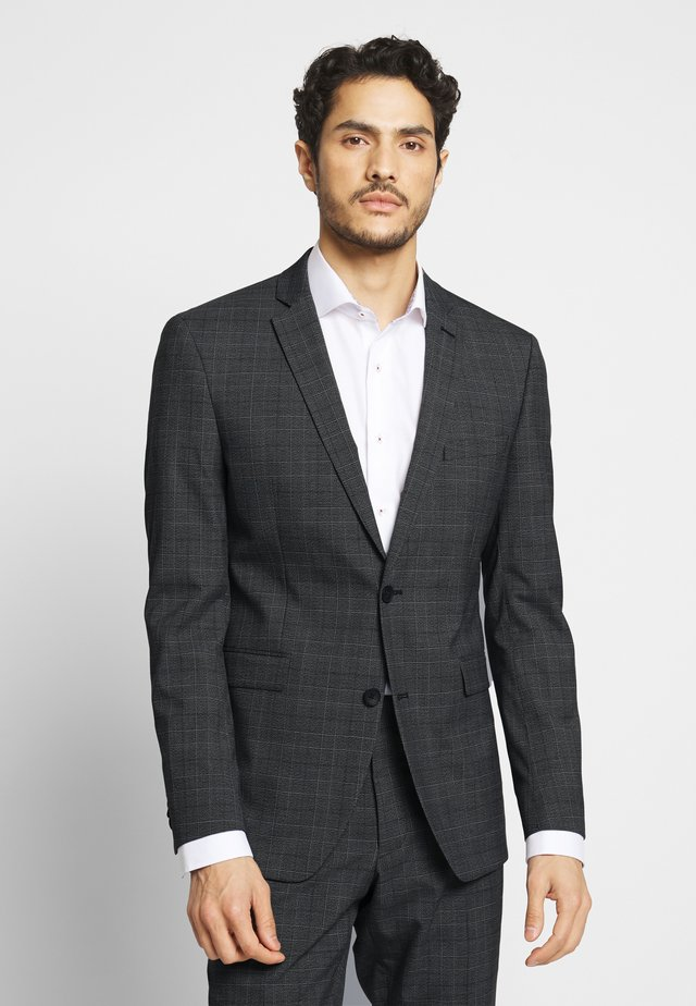 WINTER CHECK - Suit - dark grey