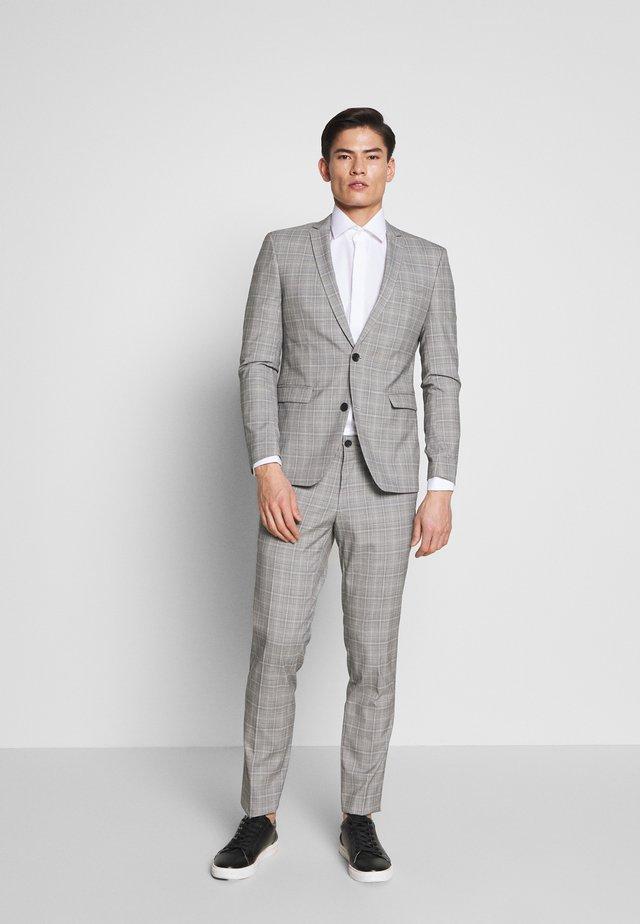 PRINCE CHECK - Traje - light grey