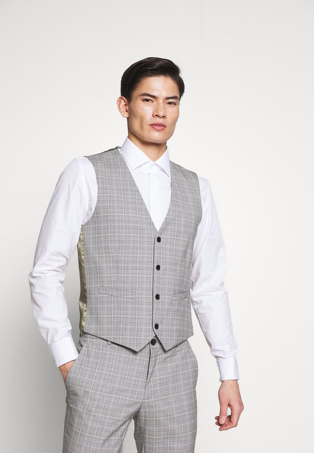 PRINCE CHECK - Suit waistcoat - light grey