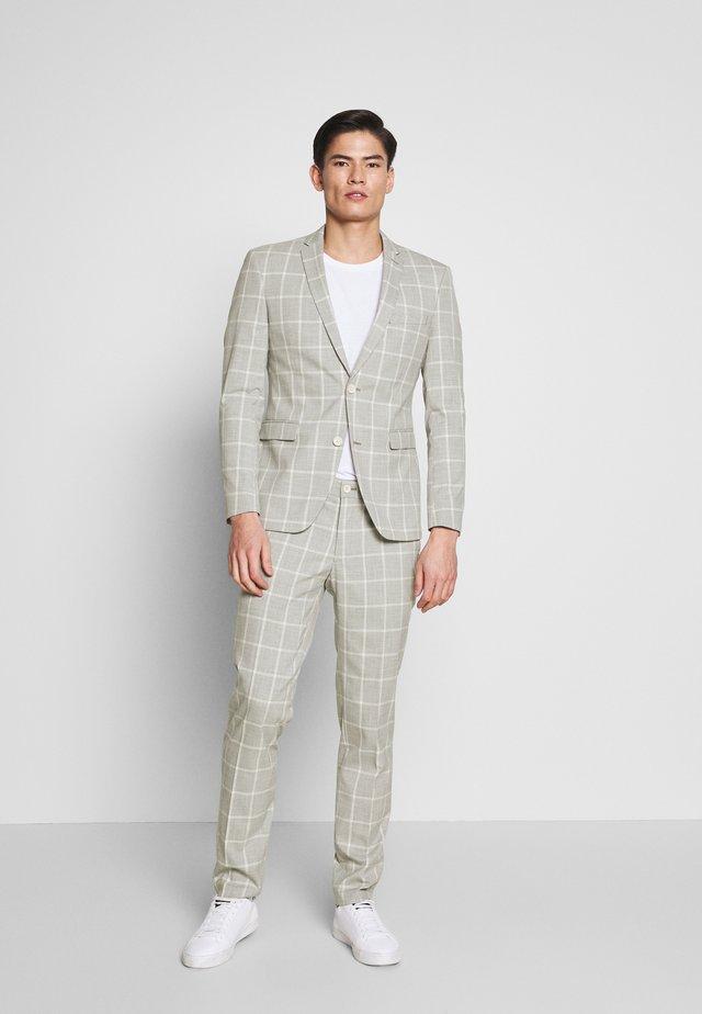 CHECK SAGE - Suit - pastel green