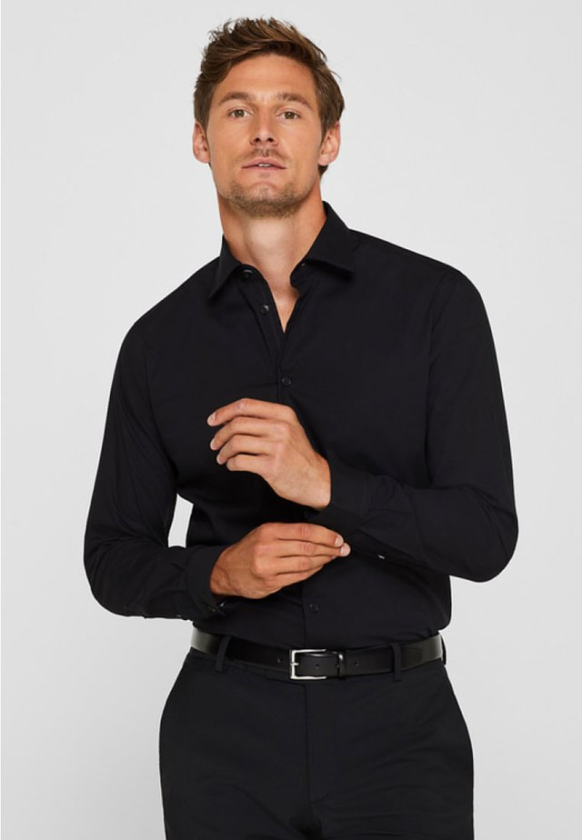 SLIM FIT - Businesshemd - black
