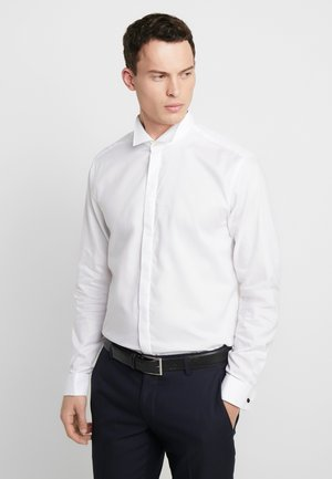 SMOKING SLIM FIT - Koszula biznesowa - white