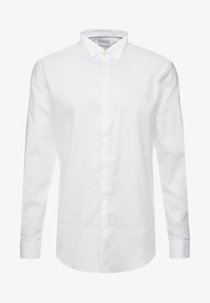 SMOKING SLIM FIT - Camicia elegante - white