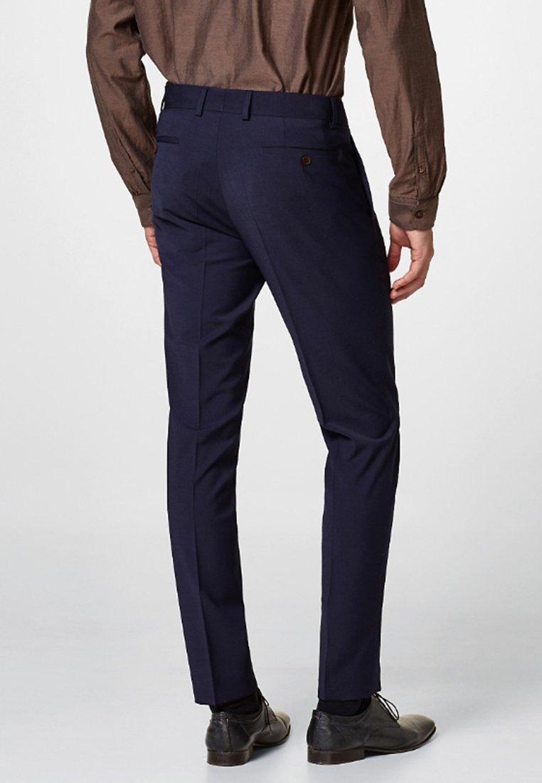 Esprit Collection - ACTIVE SUIT AUS WOLL-MIX - Suit trousers - navy