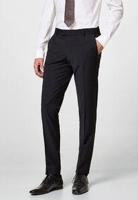 Esprit Collection - ACTIVE SUIT AUS WOLL-MIX - Pantaloni eleganti - black - 0