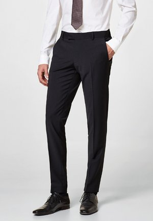 ACTIVE SUIT AUS WOLL-MIX - Pantaloni eleganti - black