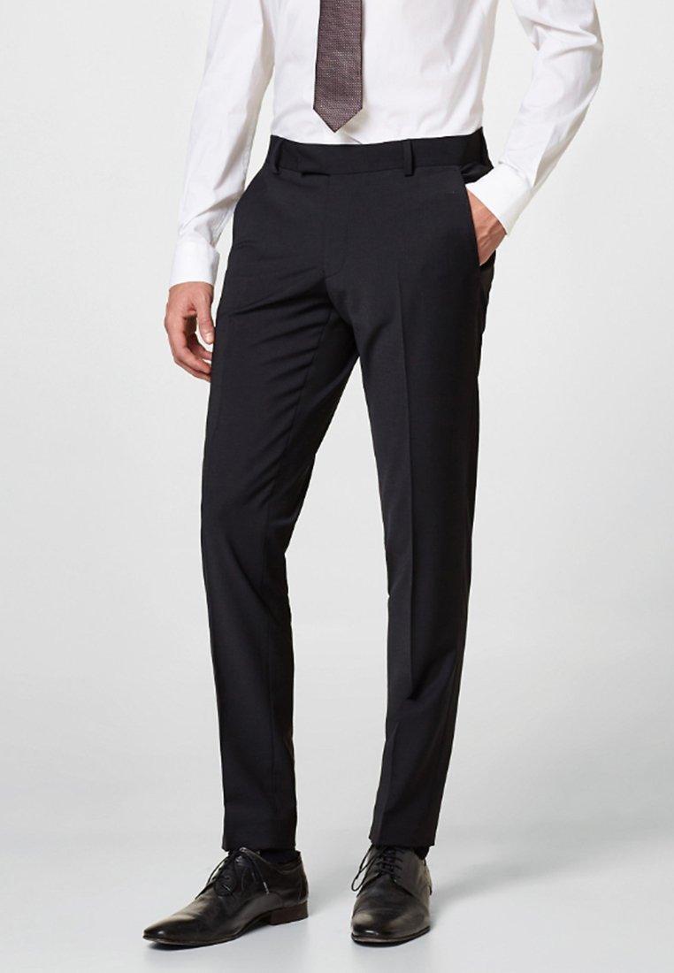 Esprit Collection - ACTIVE SUIT AUS WOLL-MIX - Suit trousers - black